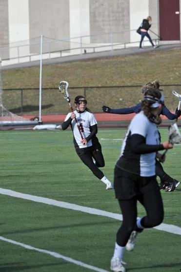 Heather (pictured) and Brittany Fraser of Topsfield, who captain the Union College squad, pack speed and power.