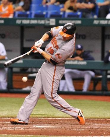 The Orioles' Chris Davis kept his torrid start going, hitting a homer (for the third straight game) and driving in four runs.