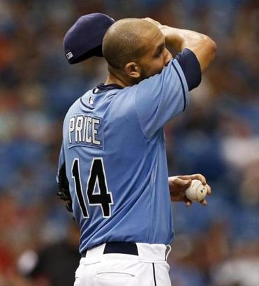 AL Cy Young winner David Price of the Rays got pounded by the Indians for eight runs.