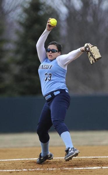 """I just focus on each batter, one pitch at a time,"" says Dracut High's Lauren Ramirez, the team's lone senior."