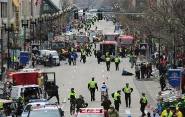 The scene in Boston after reported explosions.