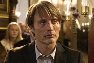 "Mads Mikkelsen stars as a nursery school teacher falsely accused of child molestation in ""The Hunt."