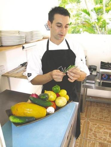 """Before coming to Nevis, I never saw nature so green and wild,"" Montpelier Plantation chef Benjamin Voisin says of the tropical island near St. Kitts."