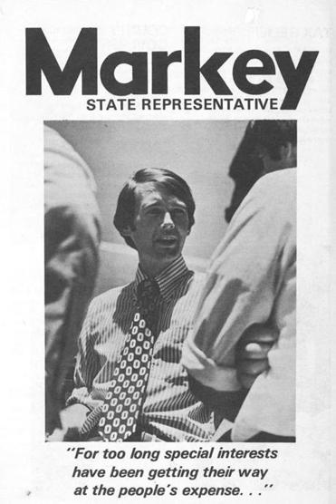 Markey first ran for the State House in 1972.