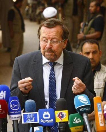 The UN's Martin Kobler praised the Iraq vote.