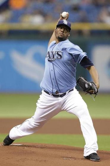 The Rays' Roberto Hernandez earned his first win since 2011 — when he was known as Fausto Carmona.