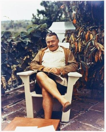 Ernest Hemingway at his hilltop estate in Finca Vigia, Cuba. He lived there for more than two decades.
