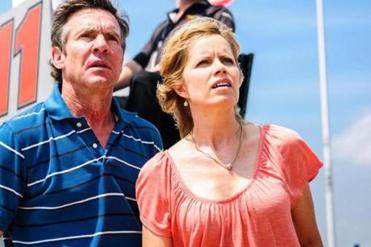 "Dennis Quaid and Kim Dickens in ""At Any Price."""