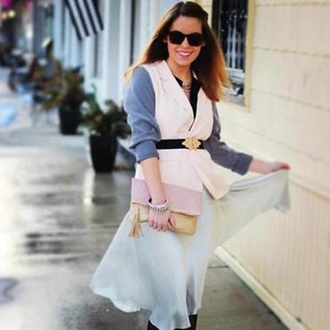 This week's Instagram fashion star is adorable style blogger and merchandising intern Katherine Tabinowski.