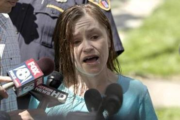 Beth Serrano, sister of Amanda Berry, addressed the media in Cleveland, Ohio after her sister returned to the family home.