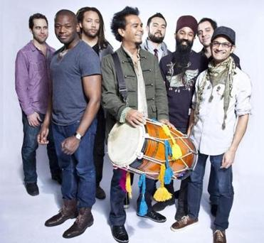 Red Baraat, a New York-based, New Orleans-style drum and brass band, performs at Copley Square Park on July 27.