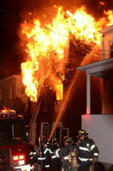Firefighters battled a house fire that killed four children and two adults in Pottsville, Pa. Neighbors said they heard cries for help, but the flames prevented any rescue.