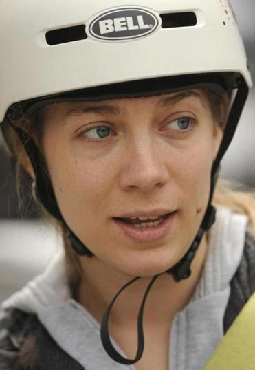 Sarah Kimball of Cambridge supports an all-ages helmet requirement.