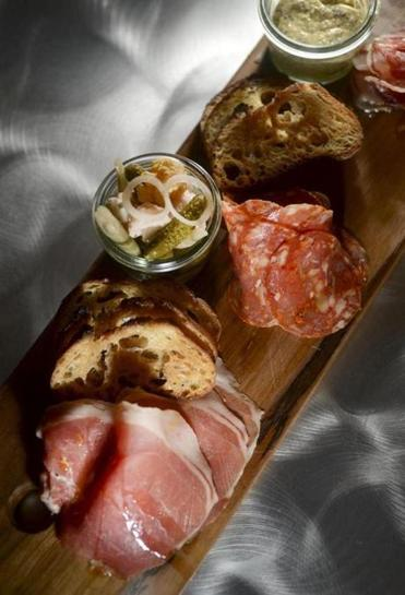 A charcuterie board at Spoke Wine Bar, which also has a carefully curated wine list.