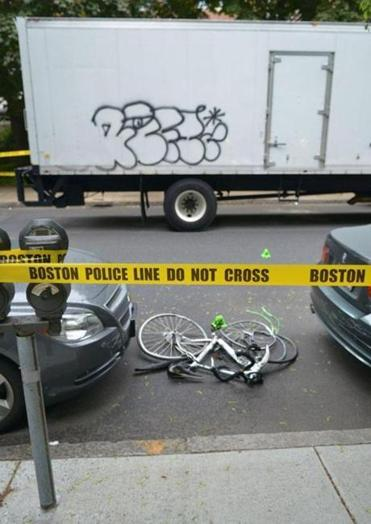 MIT scientist Kanako Miura was hit by a truck near Kenmore Square, and her bike was dragged 75 feet before dislodging.