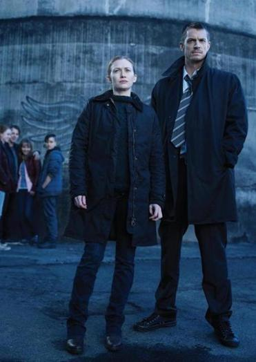 "In the season premiere of ""The Killing,"" Mireille Enos (left) and Joel Kinnaman's characters are reunited during a murder investigation."
