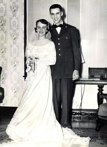 Betty and Joe Curran on their wedding day.