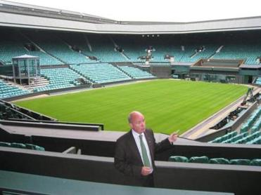Centre Court at Wimbledon lacks the modern flair of many other stadiums.