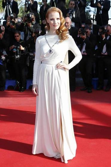 Jessica Chastain at Cannes.