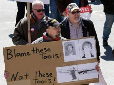 The Gun Owners Action League held a rally at the State House in Boston last month.
