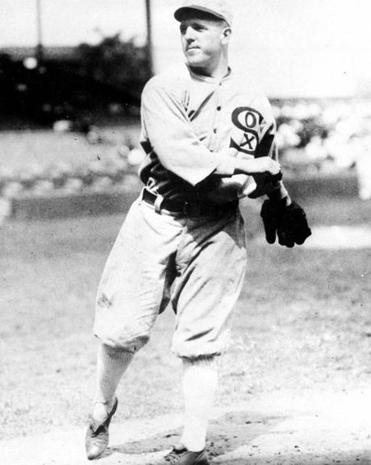 "Chicago White Sox knuckleball pitcher Ed Cicotte, who was implicated in the ""Black Sox"" gambling scandal of 1919."