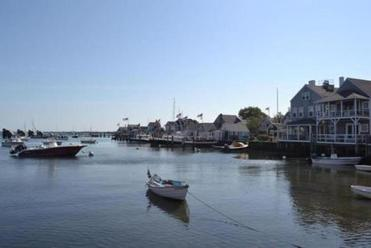 Cottages line the harbor once busy with bigger vessels  when Nantucket was the whaling capital of the world.