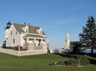 In the keeper's house at Pemaquid Point Light is a second-floor apartment available for rental.