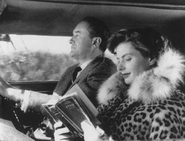"George Sanders and Ingrid Bergman in a scene from Roberto Rossellini's ""Journey to Italy."""