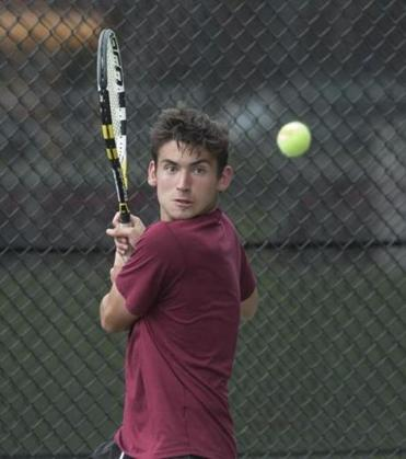 BC High's Charles Shewalter, who is in his first year on the tennis team, was the difference in the Division 1 title match.