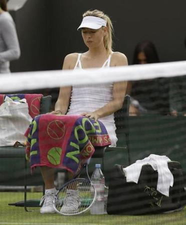 Maria Sharapova lost to Michelle Larcher De Brito on Wednesday.