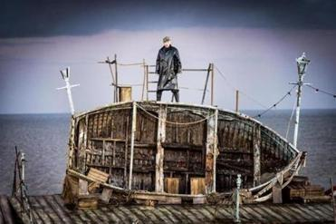 """Peter Grimes,"" staged on the beach at this year's Aldeburgh Festival."