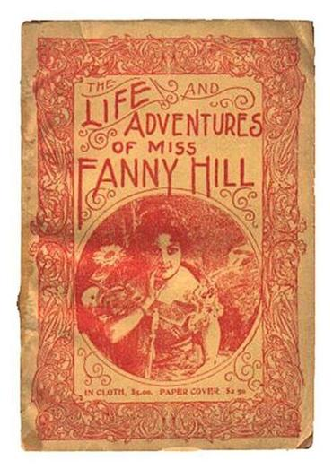 "A 1910 book jacket of ""Fanny Hill."""
