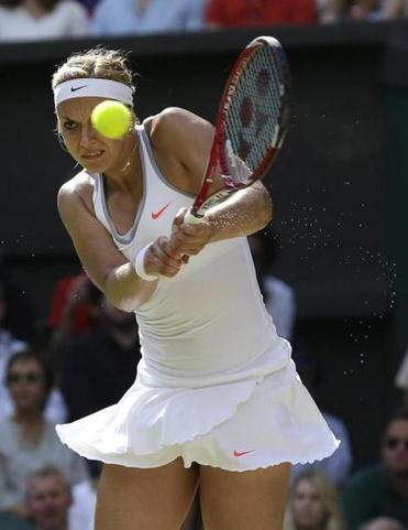 Sabine Lisicki was two points away from elimination on Thursday, but battled back to win, 9-7, in the third.