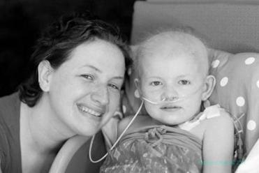 Shannon Maxim with Hailey during her illness.