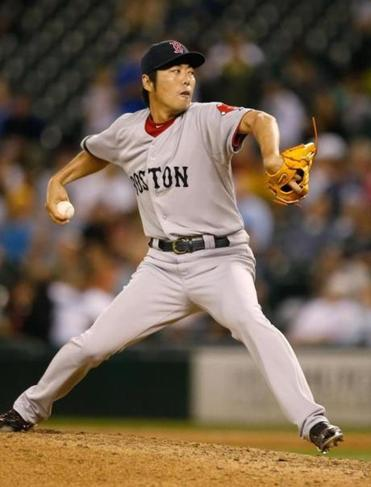Red Sox reliever Koji Uehara has dropped to fourth in the voting for the final spot on the American League All-Star team.