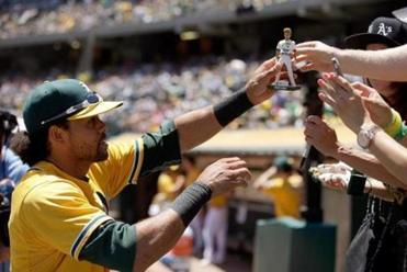 Coco Crisp  is one of many former Red Sox on the Athletics' roster.