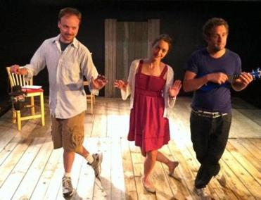 "From left: Jonathan Fielding, Stacy Fischer, and Robert Kropf are three of the actors in ""The Billingsgate Project."""