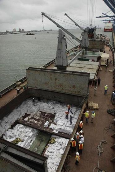 Panamanian investigators found a cache of weapons hidden in stacks of sugar on the Korean-flagged tanker.