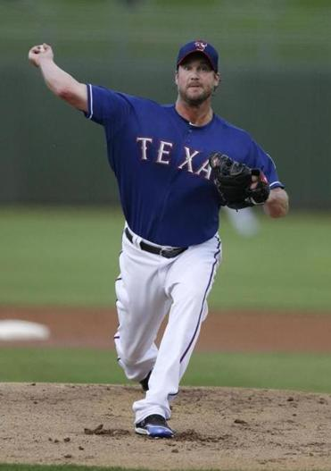 Derek Lowe pitched for the Rangers briefly this season.