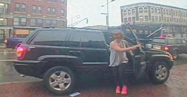 Lord and her vehicle were captured on surveillance video.