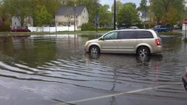 Russell Park resident Chris Chetwynd took this picture of a flooded Quincy High parking lot this past May.