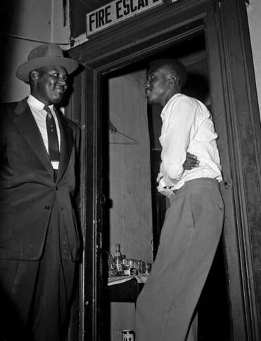 Willie Reed (right) testified in the Emmett Till trial.