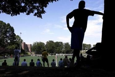 Spectators gather at Ceylon Park to watch amateur, but highly skilled, Cape Verdean teams play soccer each weekend.