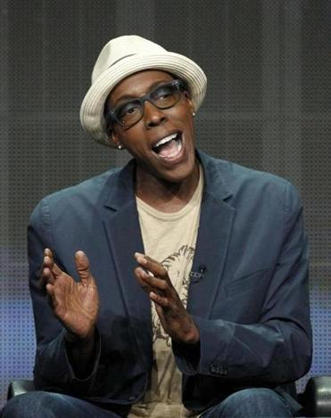 Arsenio Hall at the CBS portion of the press tour.