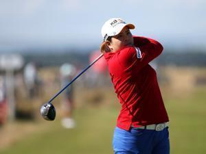 Inbee Park, aiming for her fourth consecutive major victory, was tied for 22d at the Women's British Open.