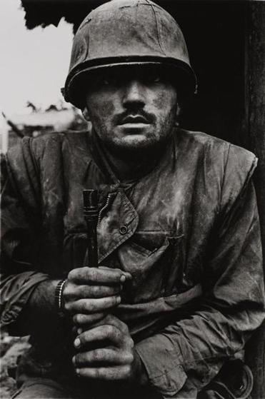 "Don McCullin's ""Shell-Shocked Marine, Hue, Vietnam."""