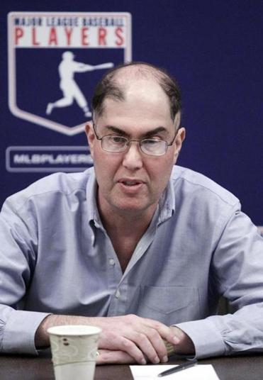 Michael Weine, executive director of the Major League Baseball Players' Association, spoke during a news conference in 2012.