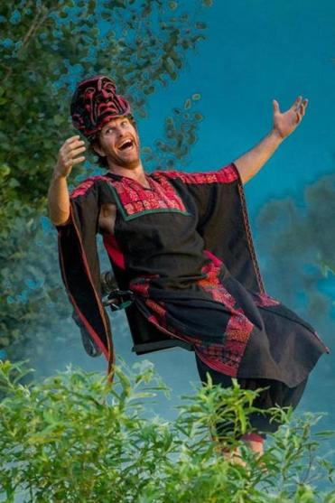 "Adam Bright plays a genie in Double Edge Theatre's outdoor production of ""Shahrazad."""