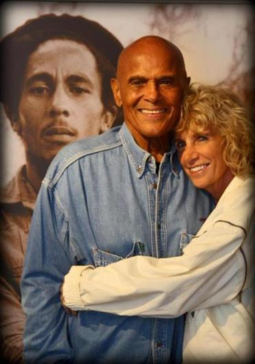 Harry Belafonte with his wife, Pam, on Martha's Vineyard.