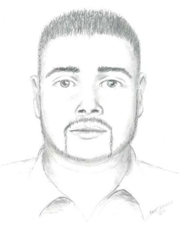 Authorities on Sunday released this sketch of the suspect in the Aug. 6 rape of a 21-year-old woman.